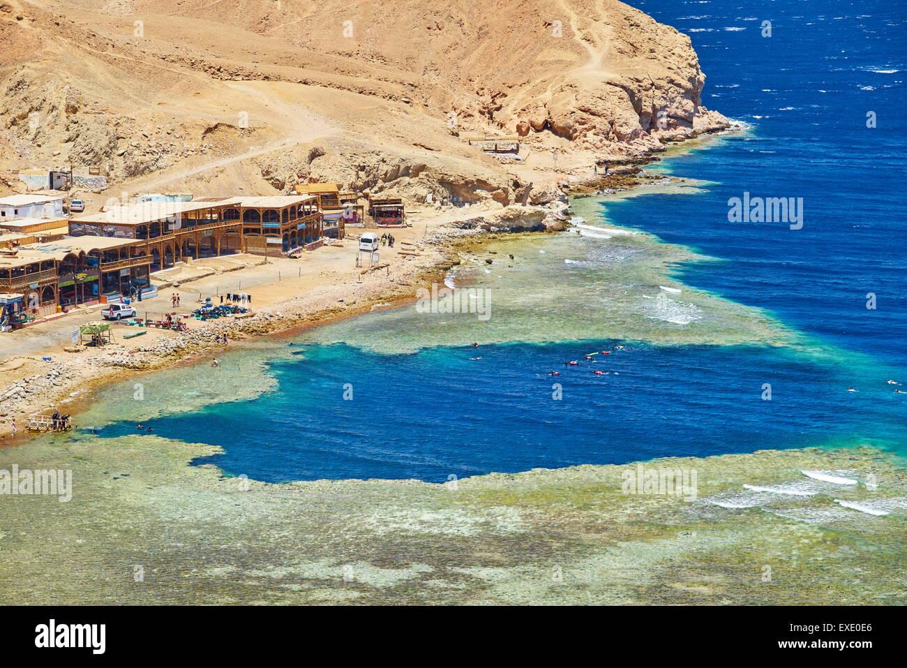 Blue Hole, Dahab, Mer Rouge, Egypte Photo Stock