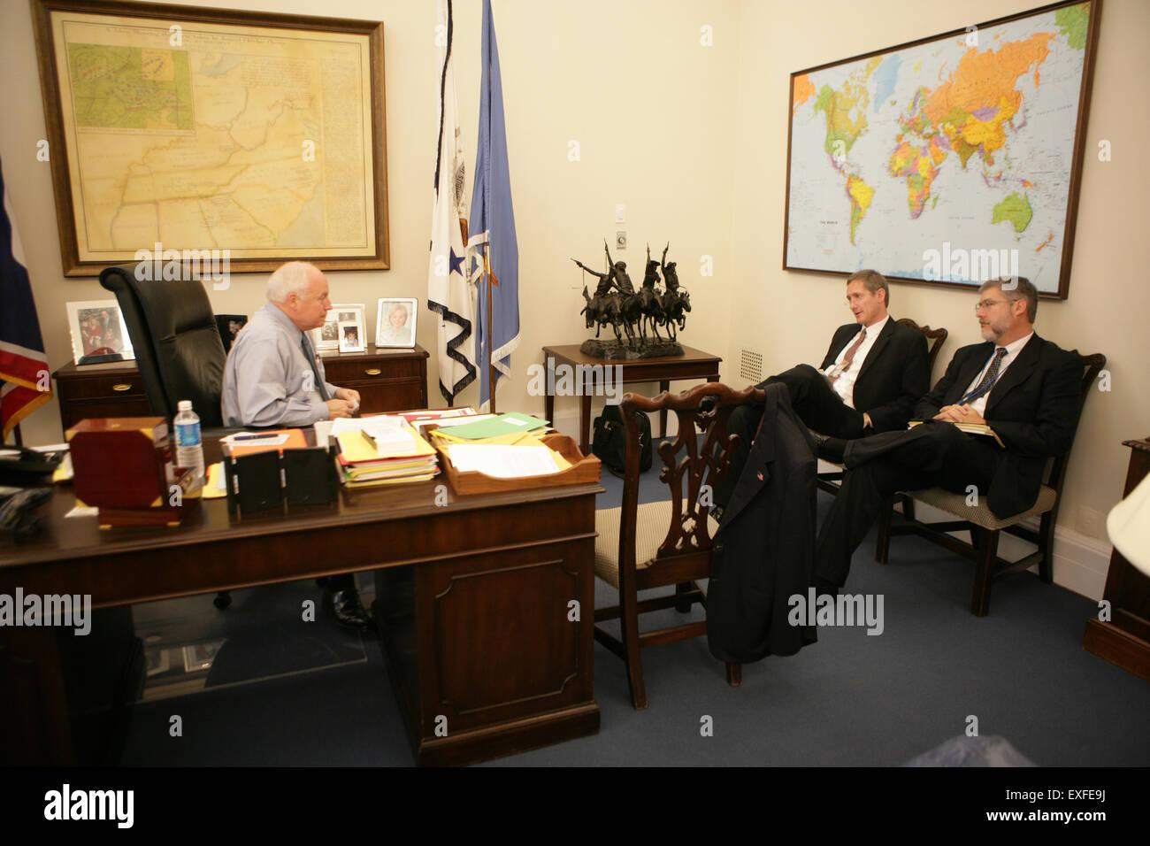 Bureau De La Maison Blanche : Du vice président cheney dans son bureau à la maison blanche banque