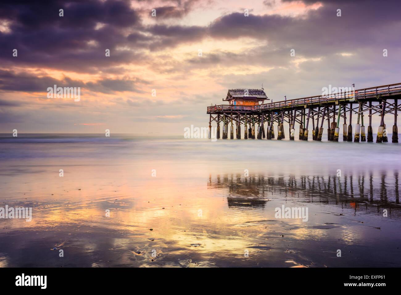 Cocoa Beach, Floride, USA à l'embarcadère. Photo Stock
