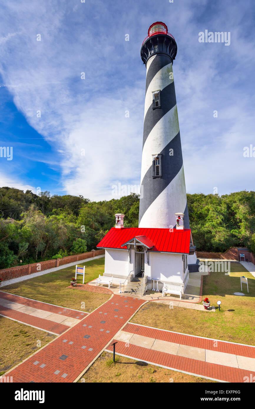 Saint Augustine, Floride, É.-U. à la lumière de saint Augustin. Photo Stock