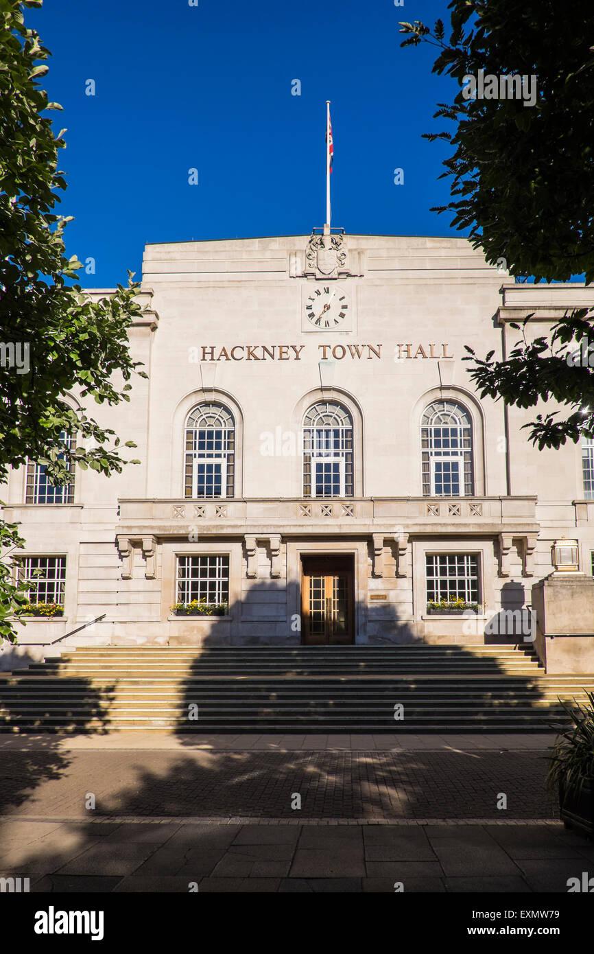Hôtel de Ville de Hackney, Londres, Angleterre, Royaume-Uni Photo Stock