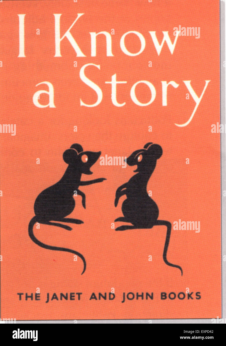 1950 UK JE SAIS UNE HISTOIRE Couverture du livre Photo Stock