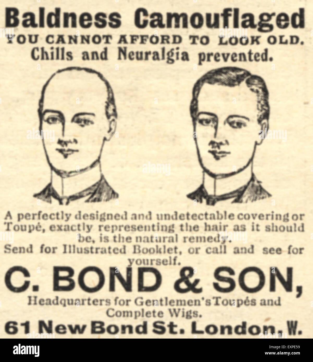 1910 UK C Bond & Son Magazine Advert Photo Stock
