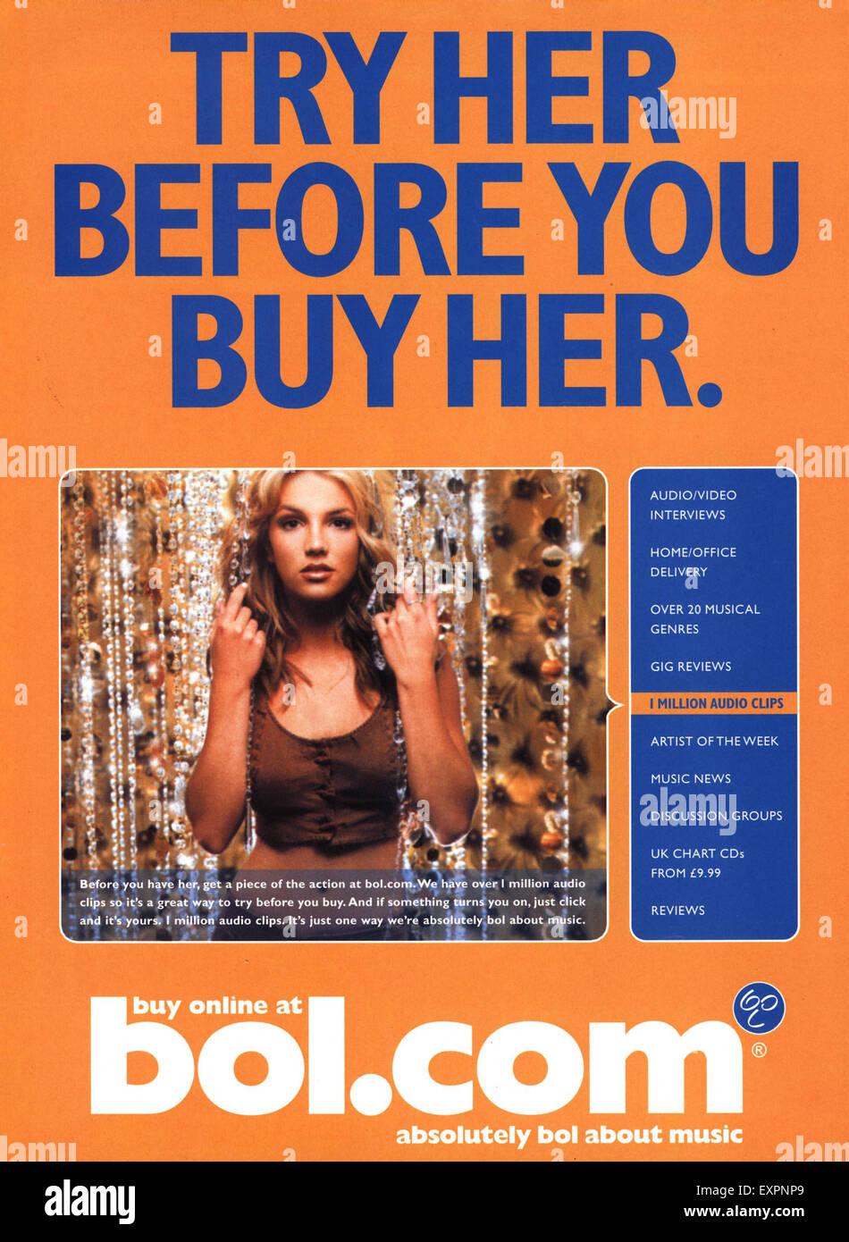 2000s UK Annonce magazine bonne lecture! Photo Stock