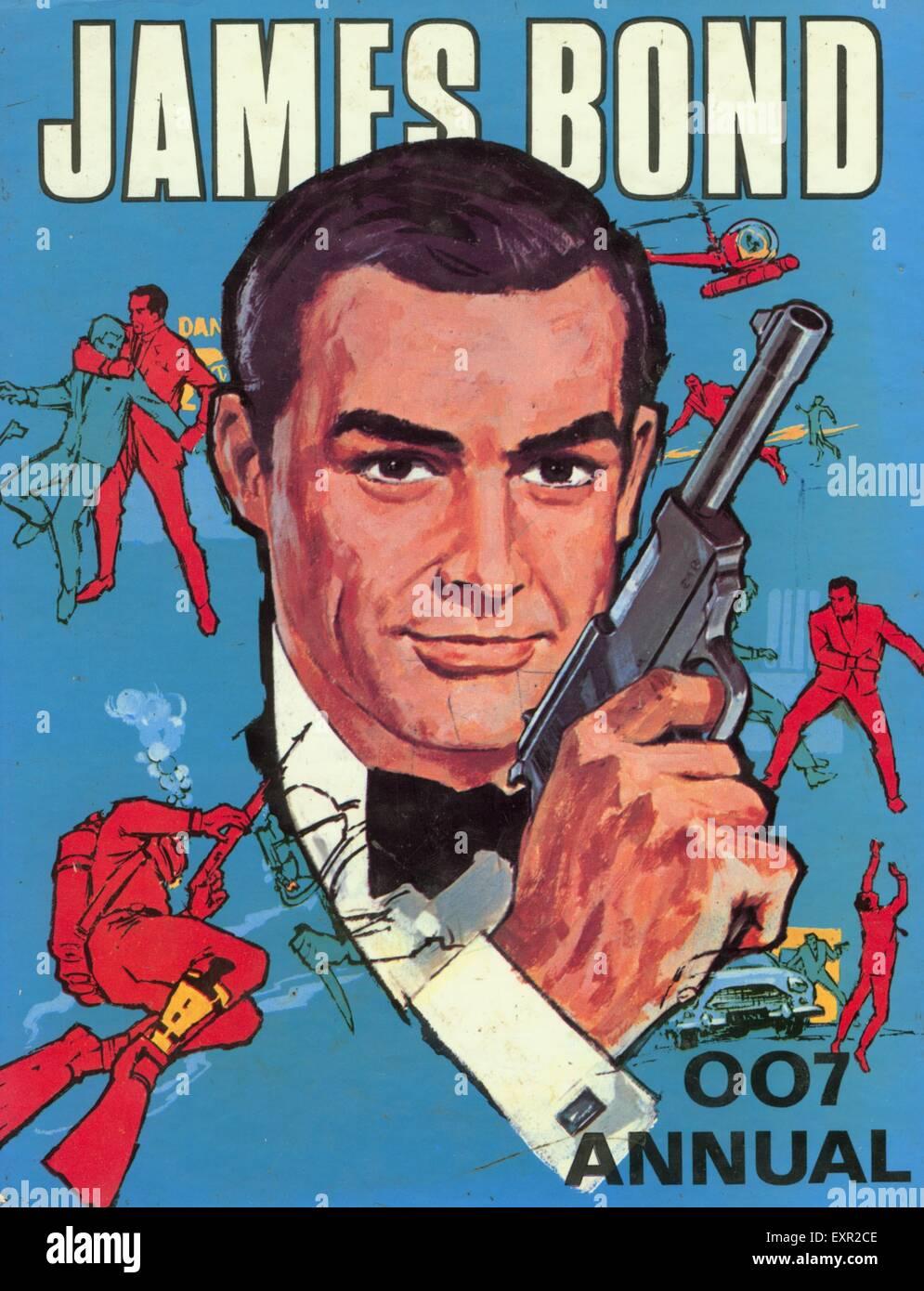 1960 UK James Bond/ Bande Dessinée Couverture annuelle Photo Stock