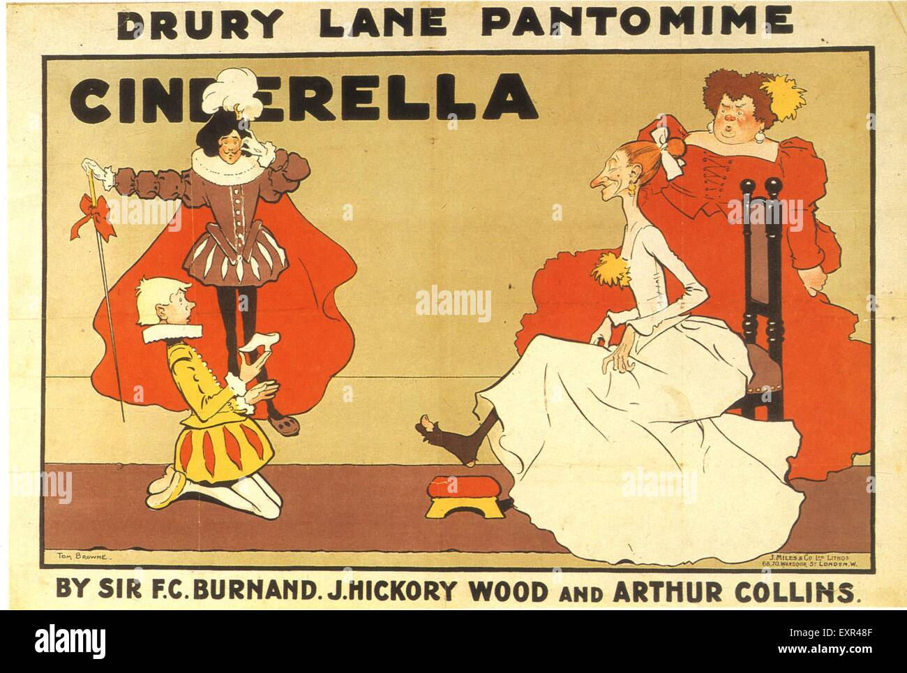 1900s UK Cinderella Poster Photo Stock