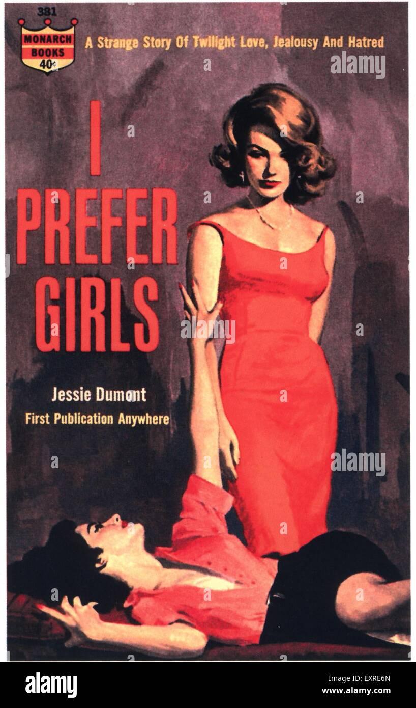 1960 UK Je préfère pour Couverture de livre Photo Stock