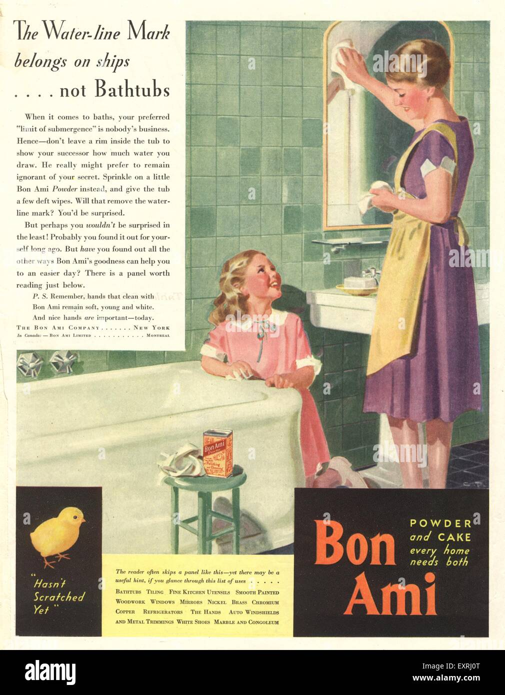 1930 USA du Bon Ami Magazine Advert Photo Stock
