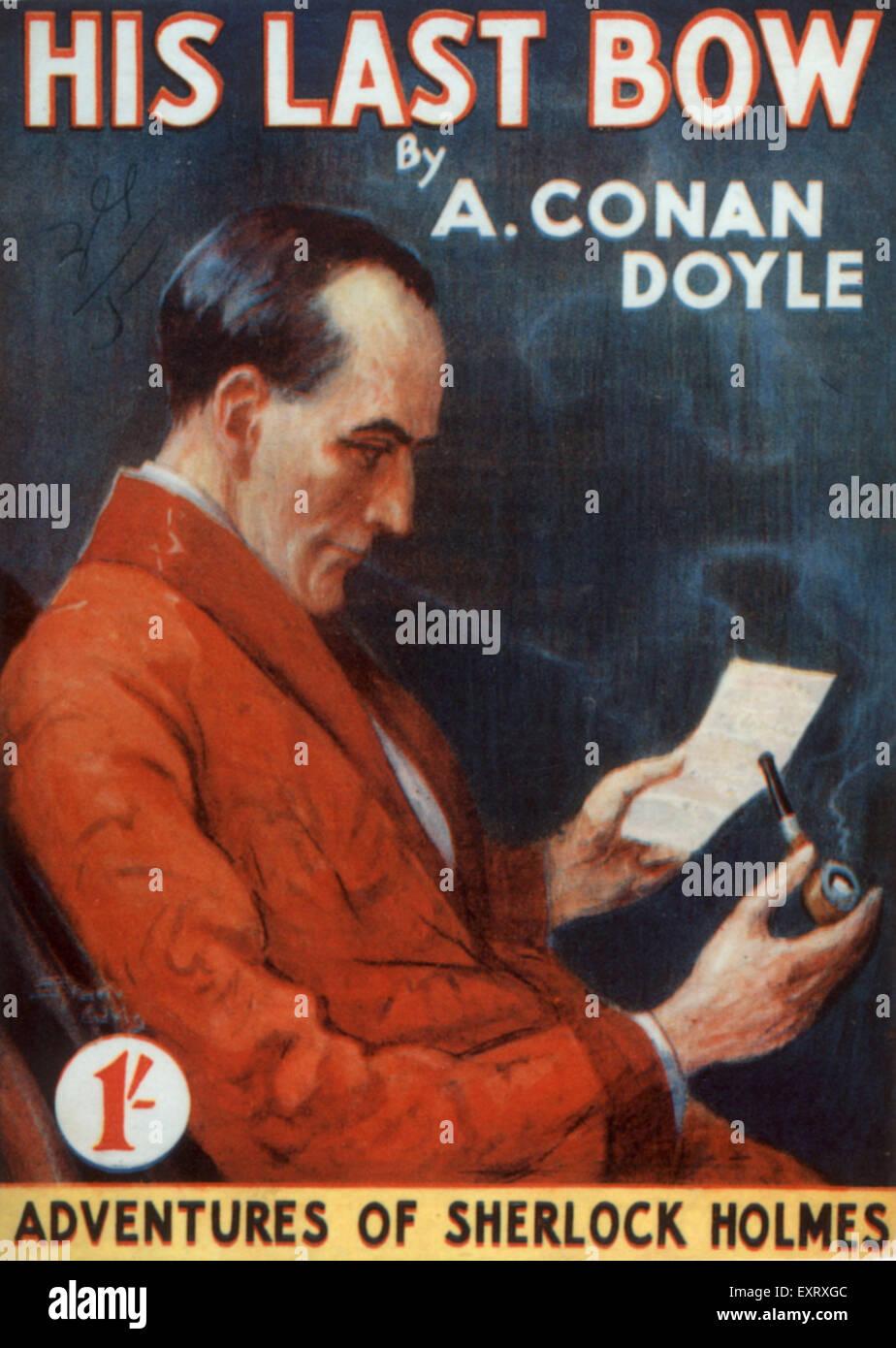 Années 1920, UK Les aventures de Sherlock Holmes Couverture de livre Photo Stock