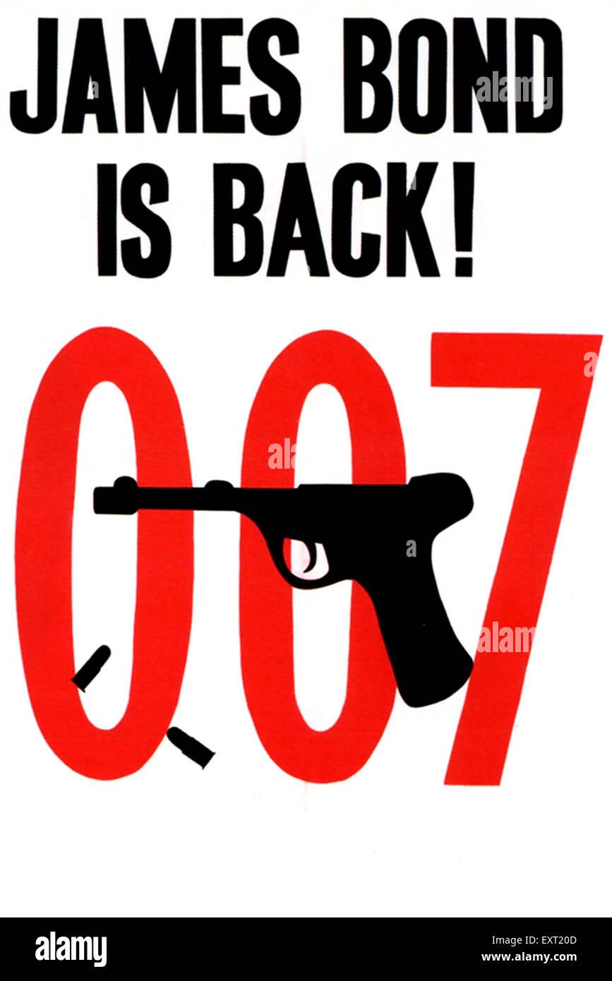 1960 UK Affiche de James Bond Photo Stock