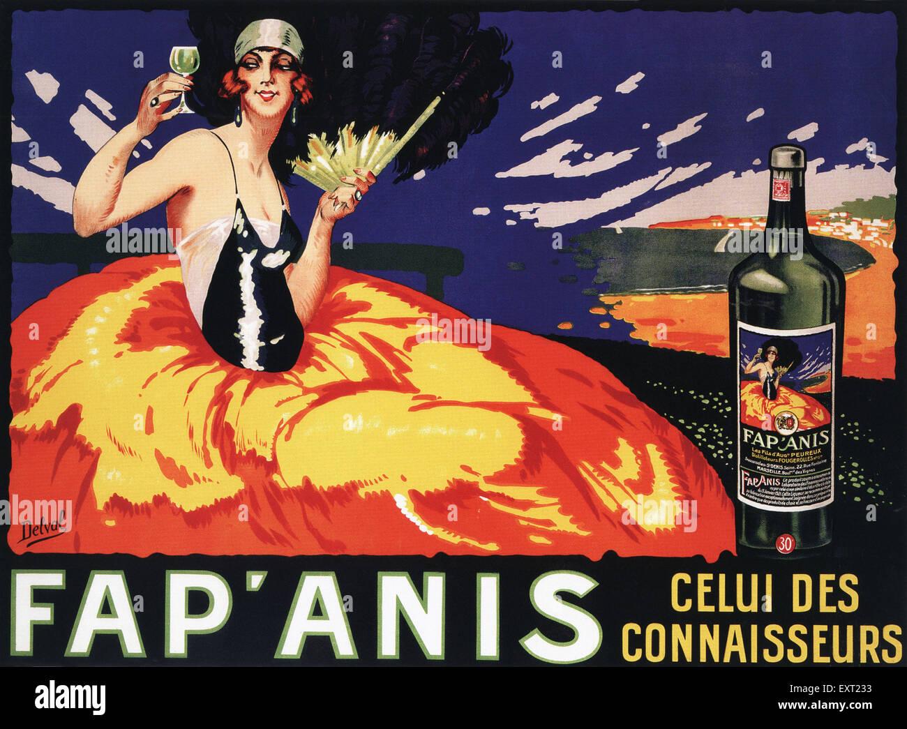 Années 1920 France Fap'anis Poster Banque D'Images