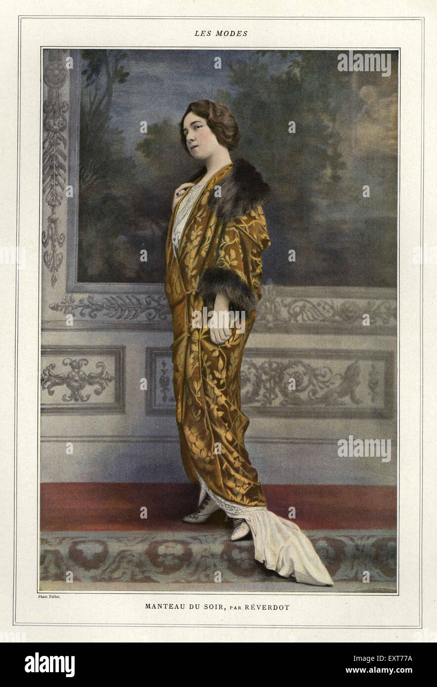 1910 France Les Modes Plaque Magazine Photo Stock