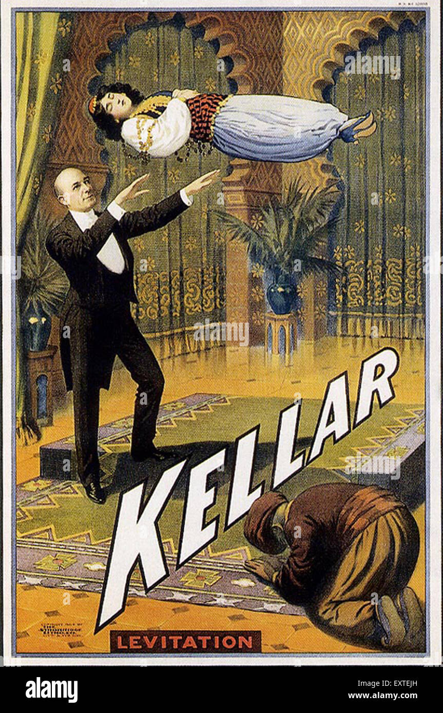 1920 UK Kellar Poster Photo Stock