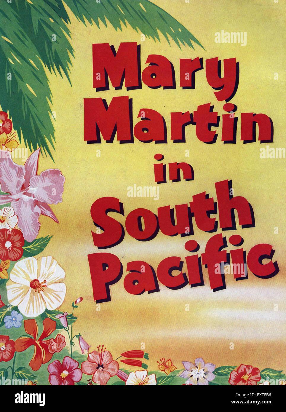 UK Affiche du Pacifique Sud Banque D'Images