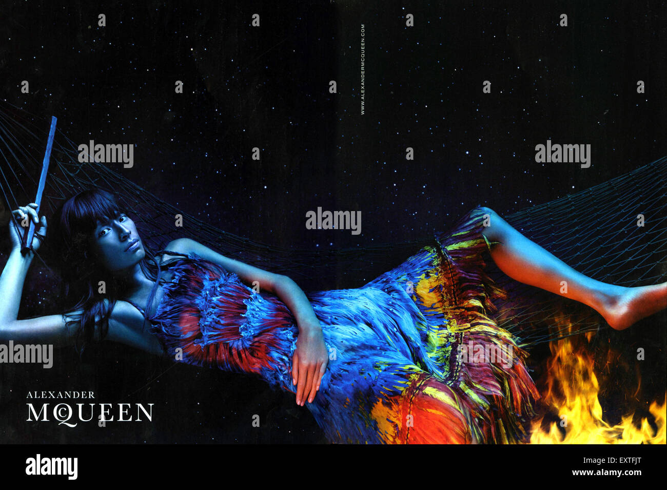2000s UK Alexander McQueen Annonce magazine Photo Stock