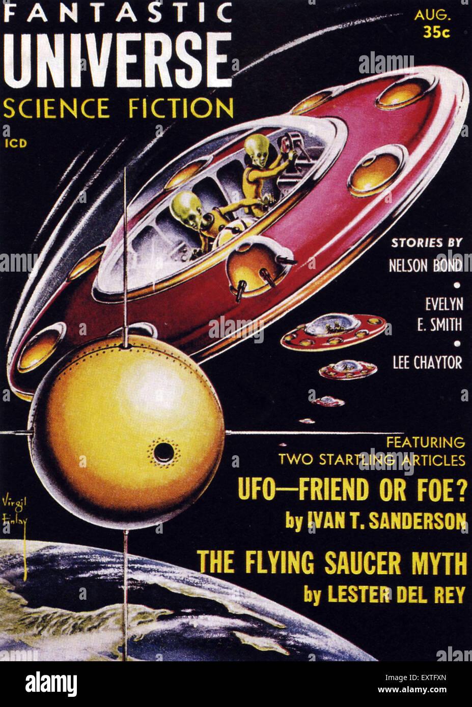 1950 USA univers fantastique couverture de magazine Photo Stock