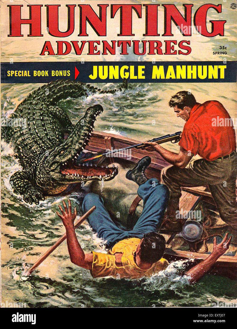 1960 USA Aventures Chasse Couverture Magazine Photo Stock