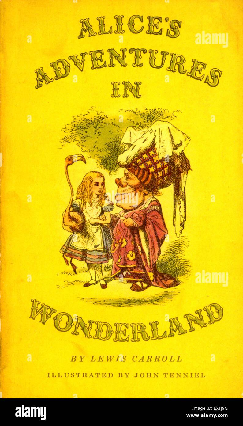 1940 UK Alice's Adventures in Wonderland Couverture de livre Photo Stock
