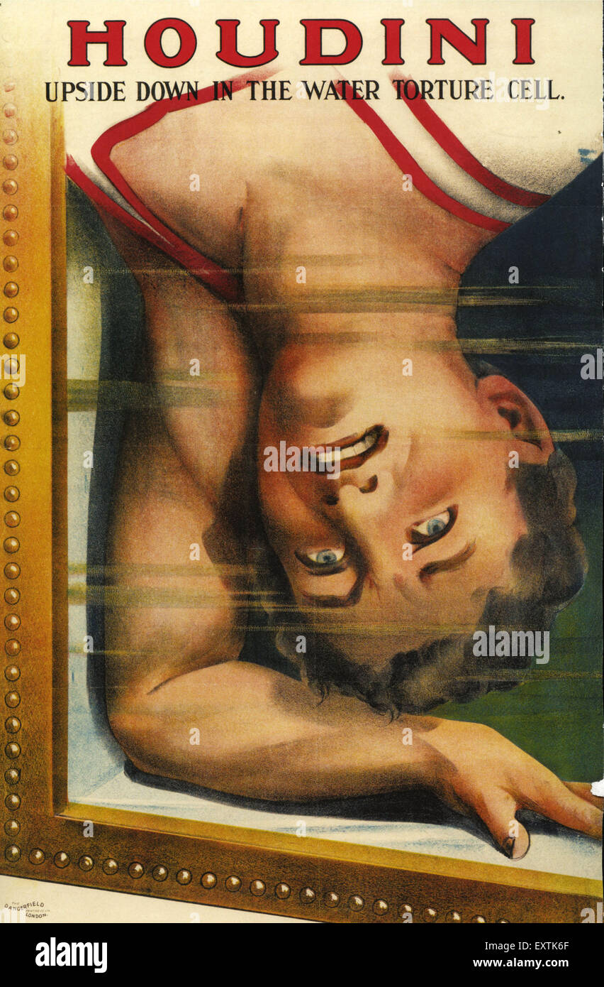 UK Houdini Poster Photo Stock