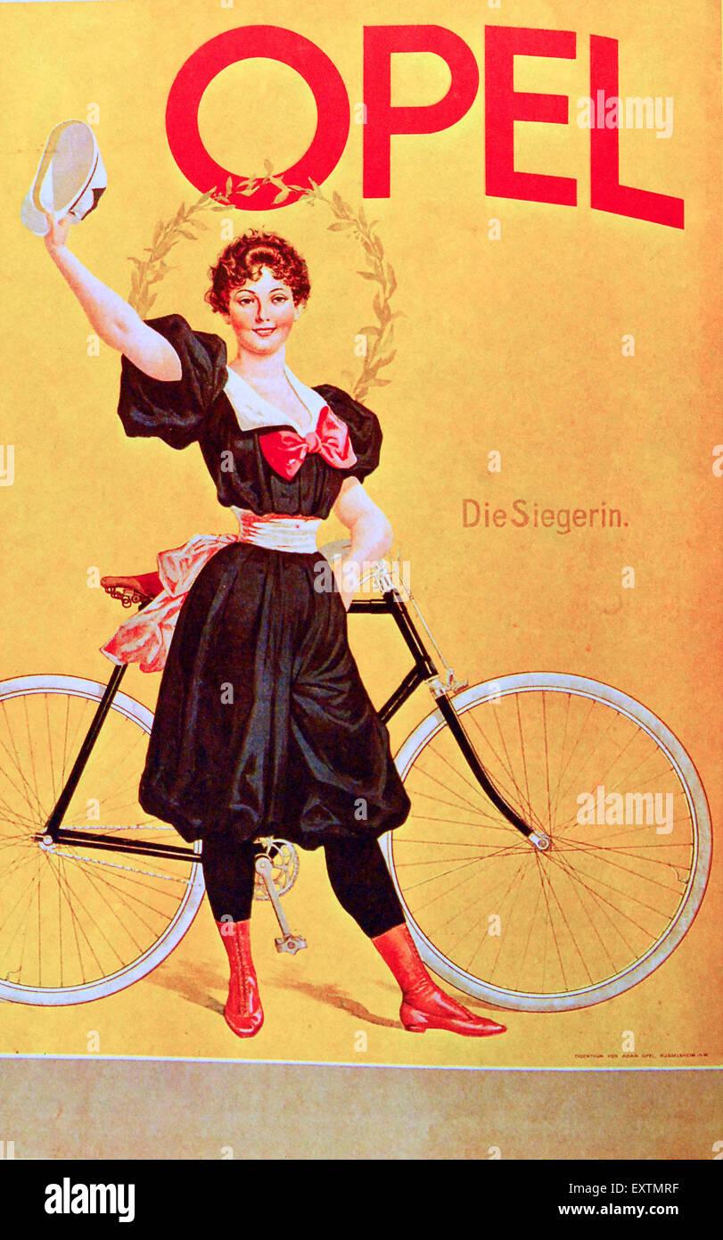 Années 1900, l'Allemagne affiche Opel Banque D'Images