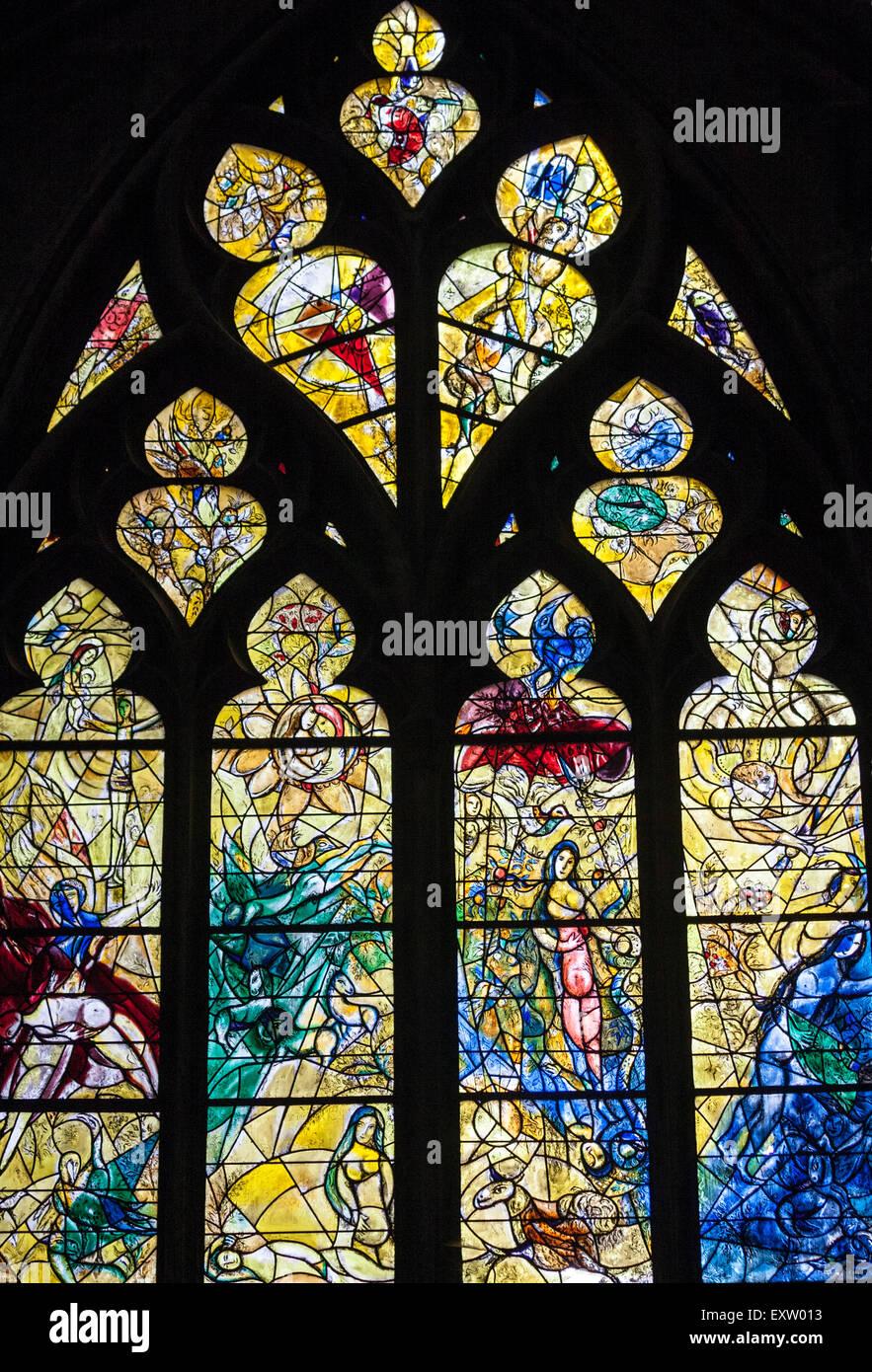 Vitraux Metz vitraux de marc chagall, 20e siècle. la cathédrale de metz, metz