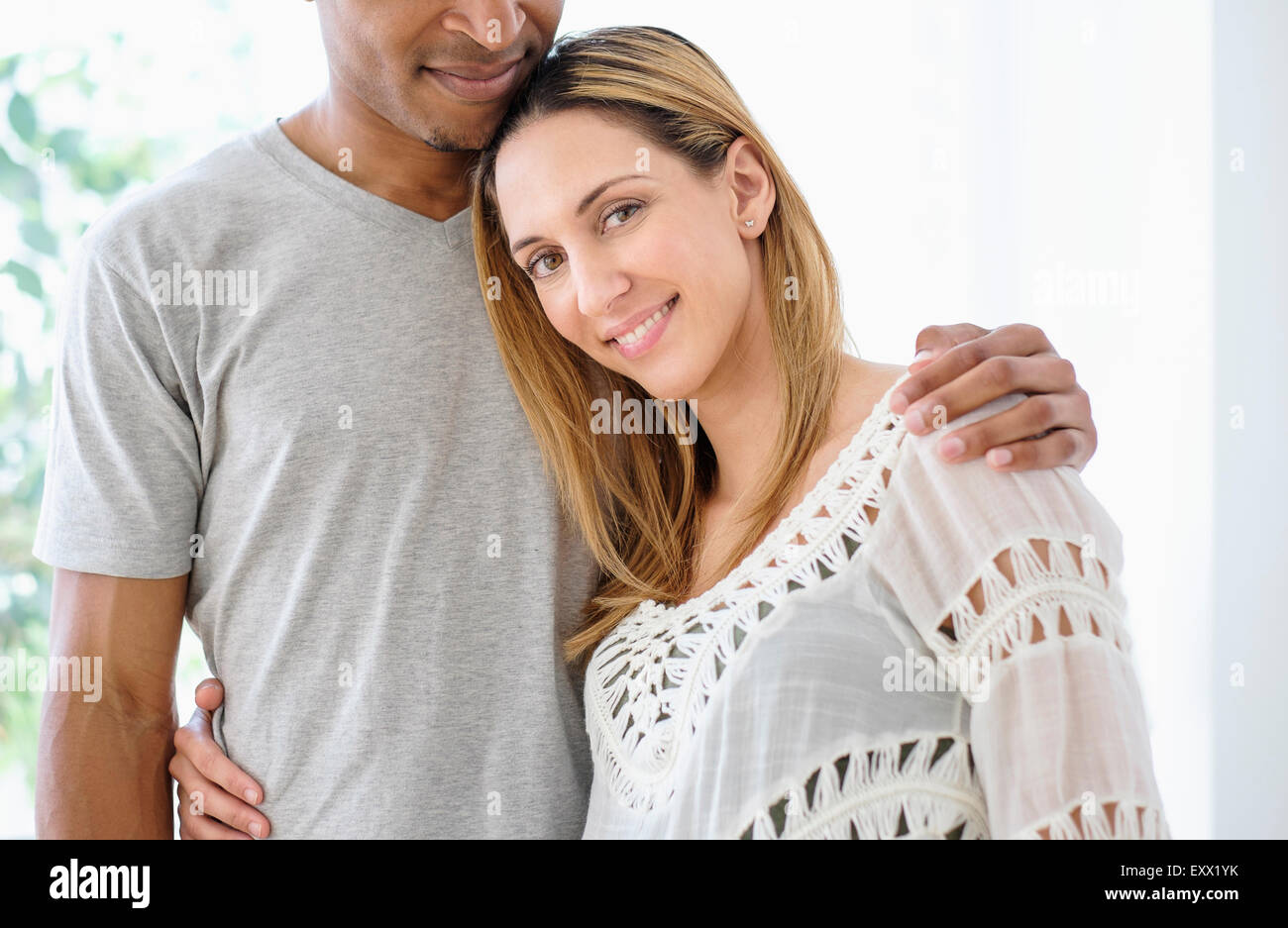 Young couple embracing Photo Stock