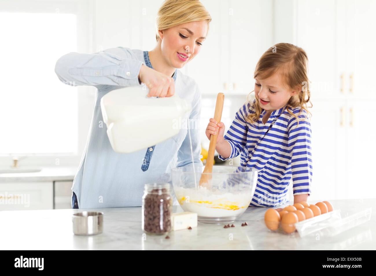 Mère et fille (4-5) Photo Stock