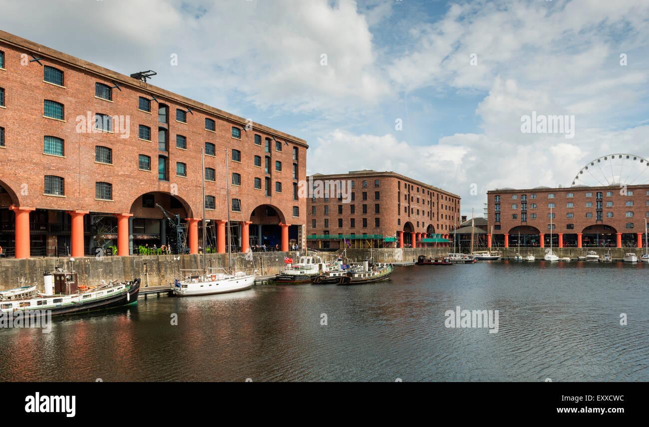 Les appartements de l'Albert Dock, Liverpool, Merseyside, England, UK Photo Stock