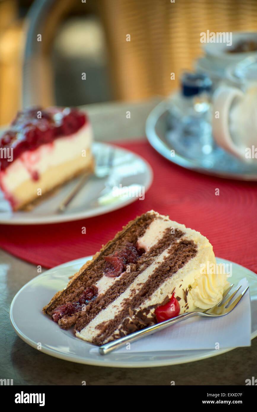 Tranche de gâteau Gâteau Forêt,Noire, Allemagne, Europe