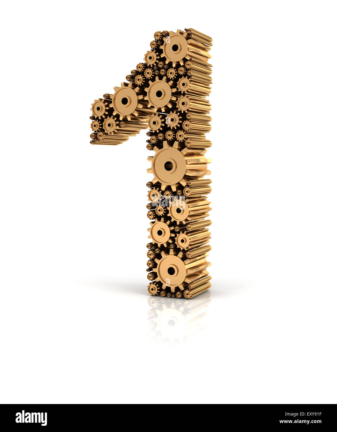 Un nombre formé par pignons Photo Stock