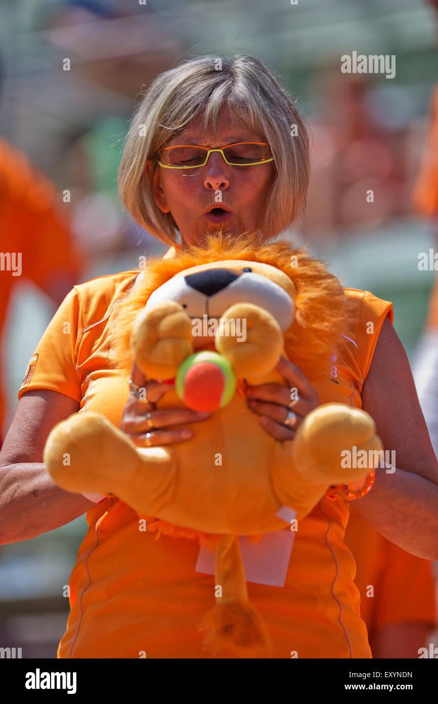 L'Autriche, l'KitzbŸhel, Juli 18, 2015, Tennis, Coupe Davis, deuxième match entre Andreas Haider-Maurer Photo Stock