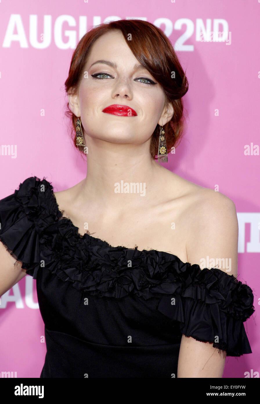 Emma Stone à la première de Los Angeles 'House Bunny' qui s'est tenue à la Mann Village Photo Stock