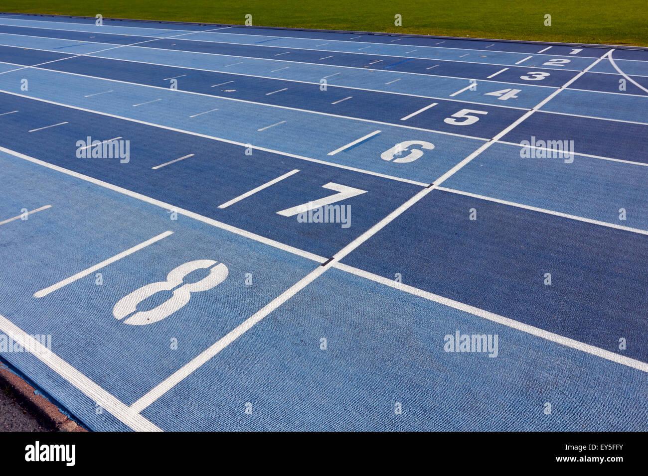 pistes d'athlétisme Photo Stock