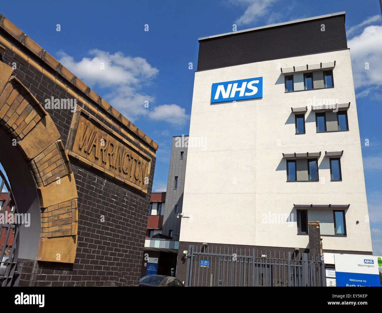 Bath St,Warrington Hospitals NHS Trust, Cheshire, Angleterre, Royaume-Uni Photo Stock