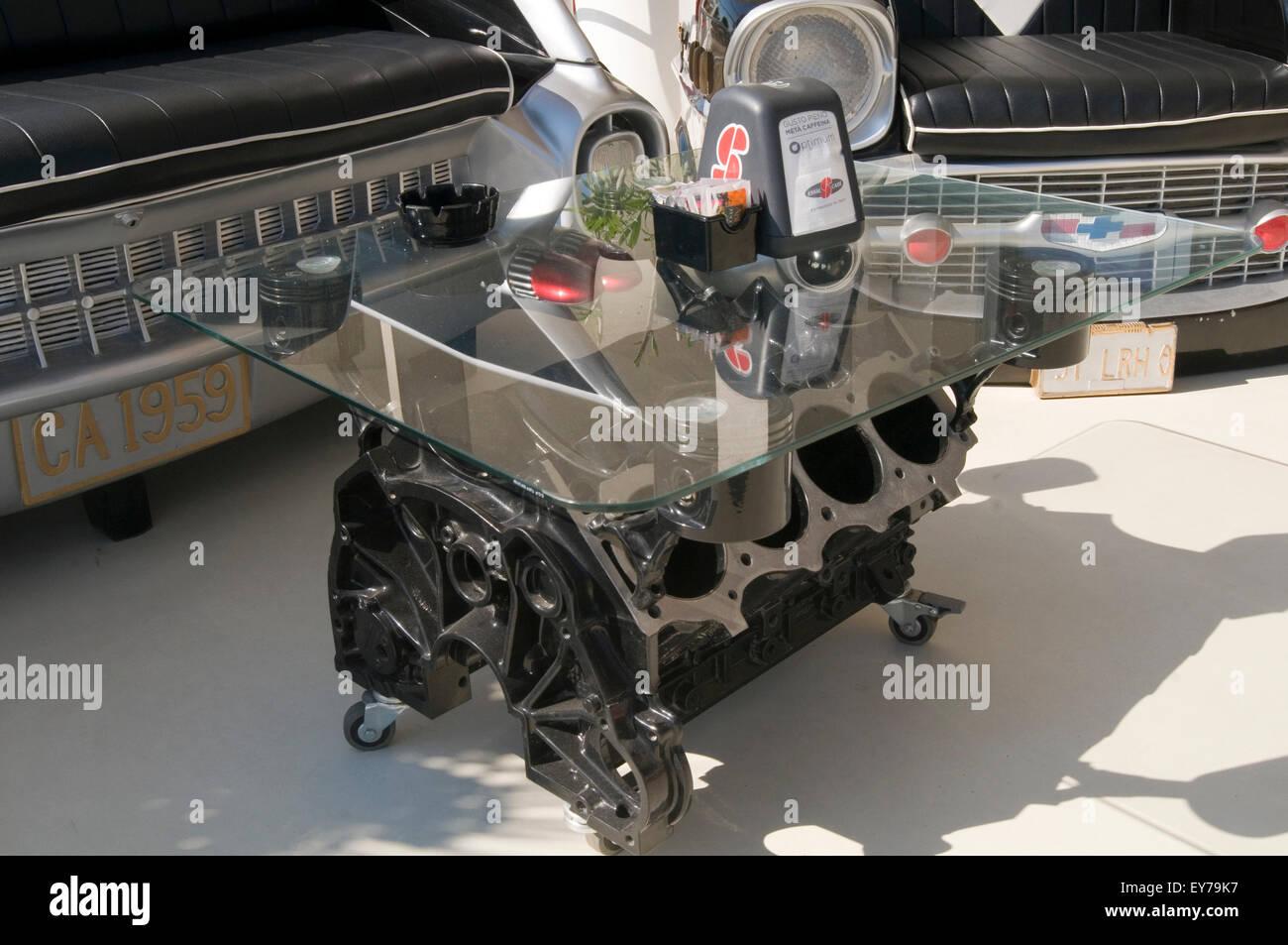 Moteur V8 Table Basse Tables Blocs Bloc Petrolhead Passionne De