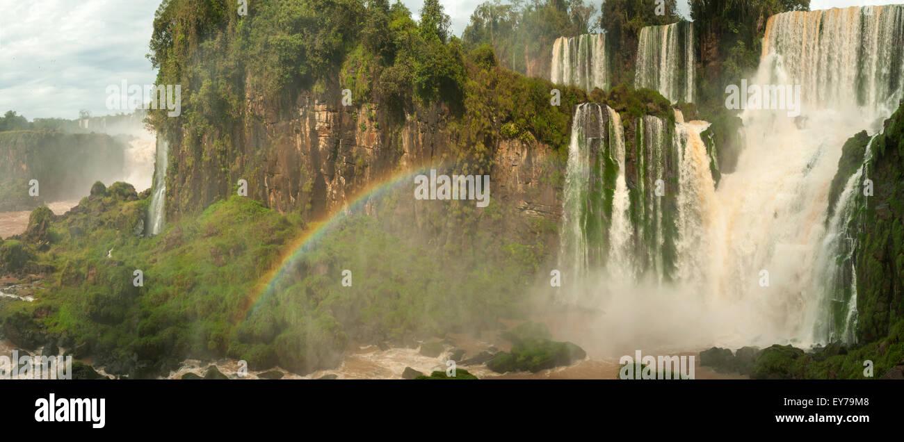 Du côté de l'Argentine, l'Argentine Panorama Iguassu Falls Banque D'Images