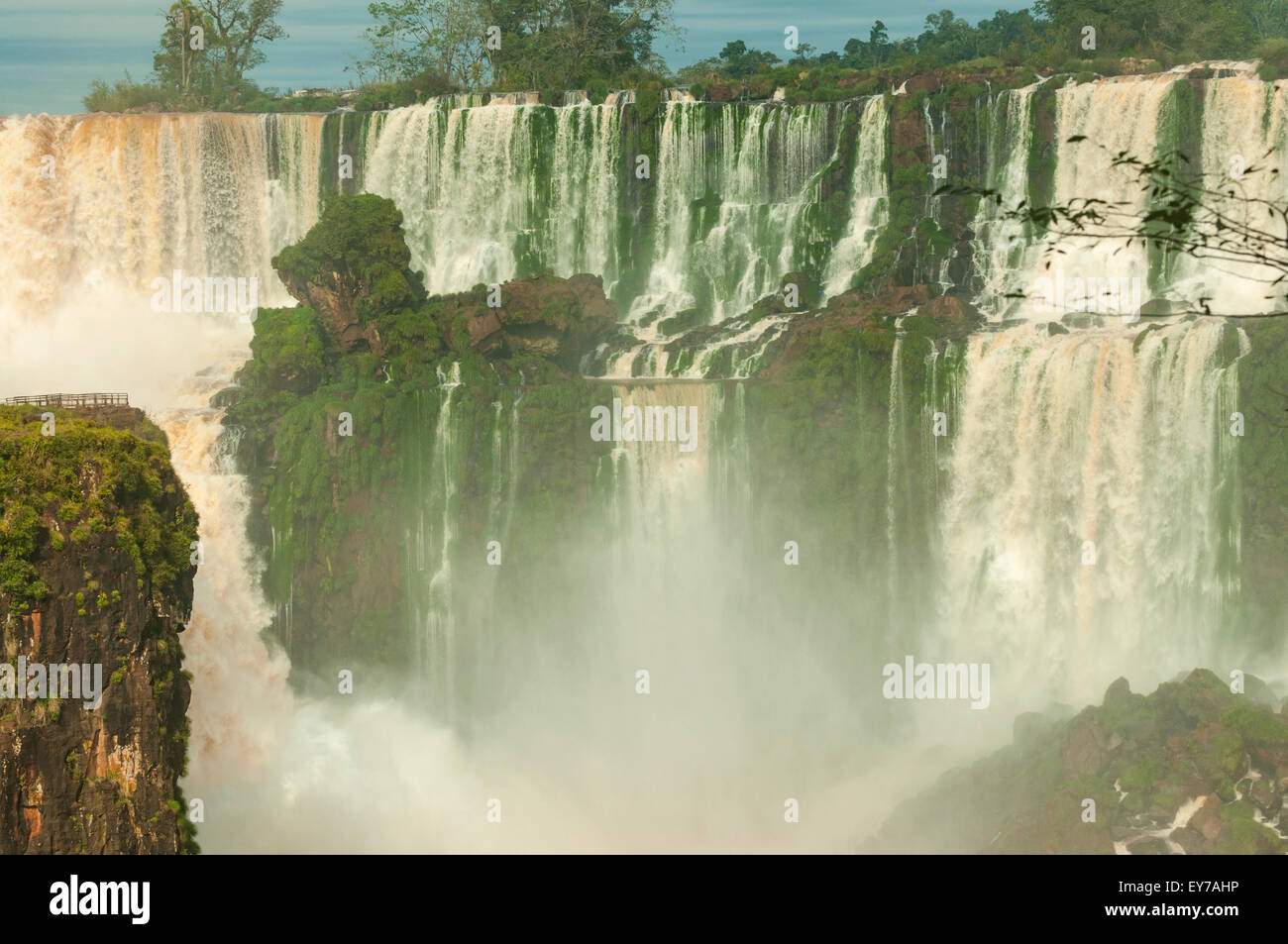 Du côté de l'Argentine Chutes d'Iguaçu, Argentine Banque D'Images