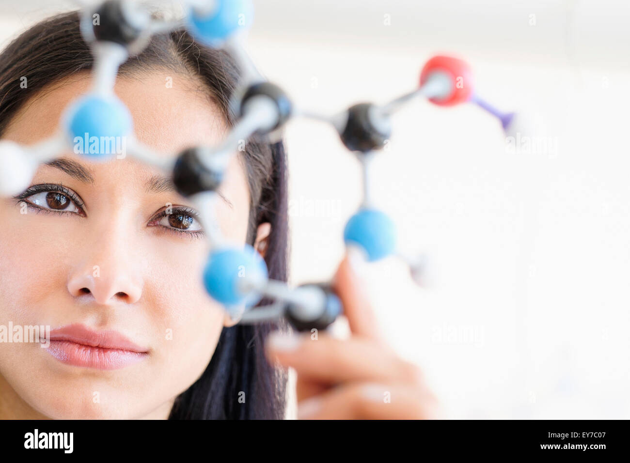 Woman working in laboratory Photo Stock