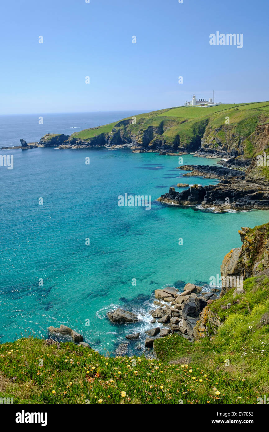 Le phare du cap Lizard, Péninsule du Lézard, West Cornwall, England, UK Photo Stock