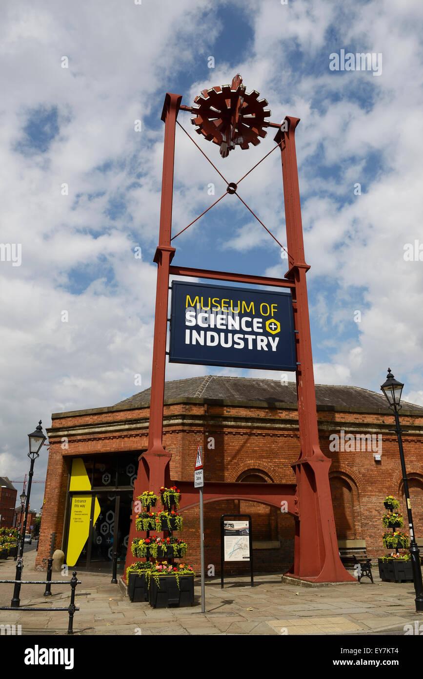 Le musée des sciences et de l'industrie à Manchester, UK Photo Stock