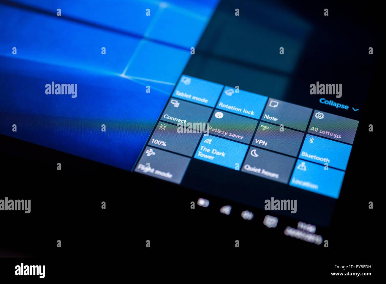 L\u0027Action Centre de Système d\u0027exploitation Microsoft Windows