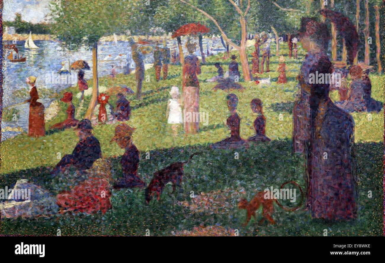 """Georges Seurat (1859-1891). Le peintre français. Etude pour 'Un dimanche à la Grande Jatte"""", Photo Stock"""