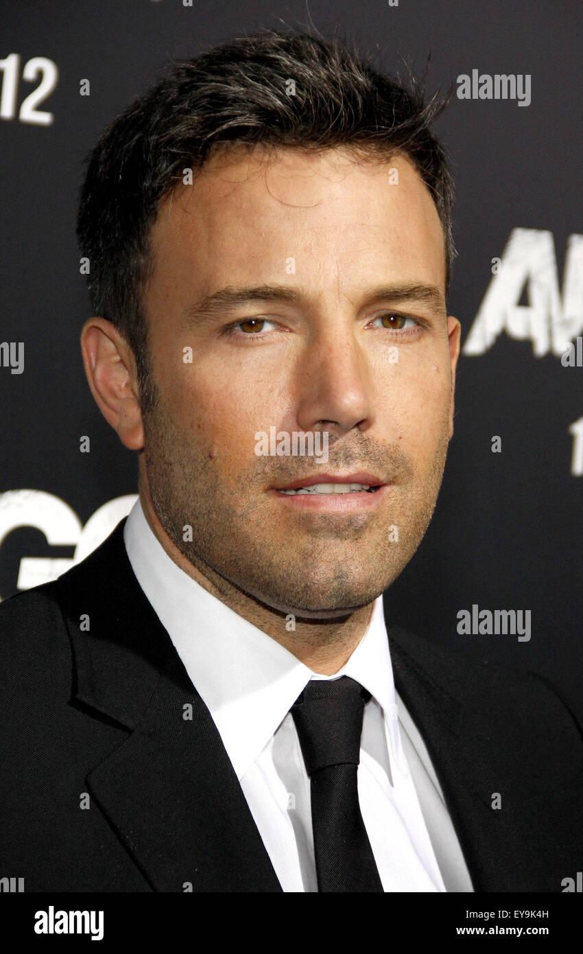 Ben Affleck au Los Angeles premiere de 'Argo' tenue à l'AMPAS Samuel Goldwyn Theatre de Los Angeles Photo Stock