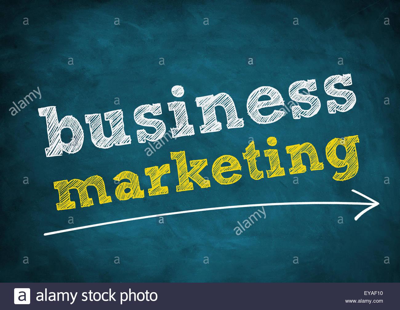 Le marketing d'affaires Photo Stock