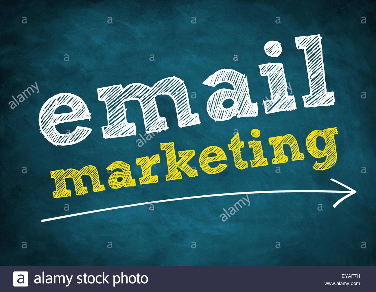 marketing par courriel Photo Stock