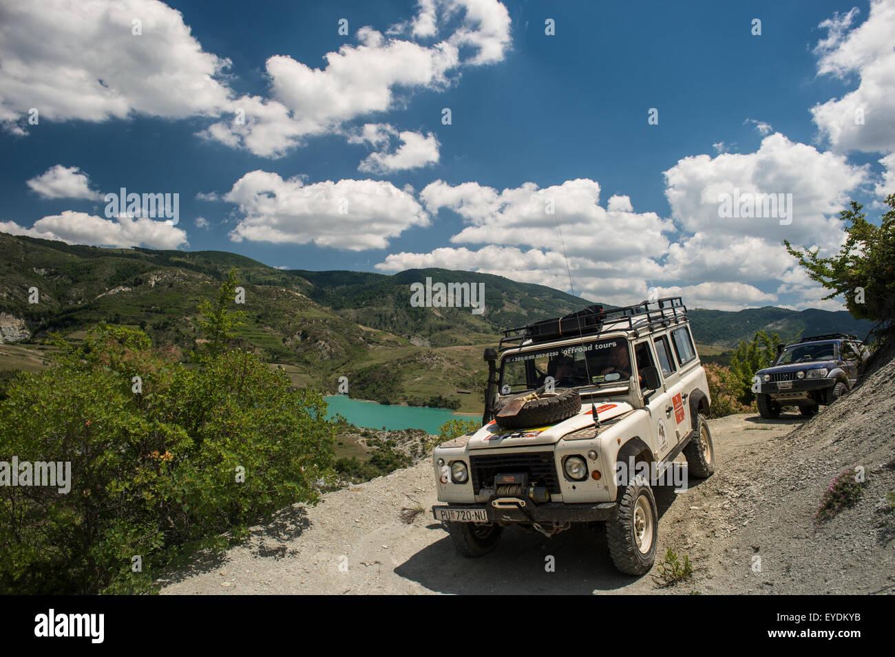 J'Rezervuari Roskovecit Lake, Fier, Albanie Photo Stock