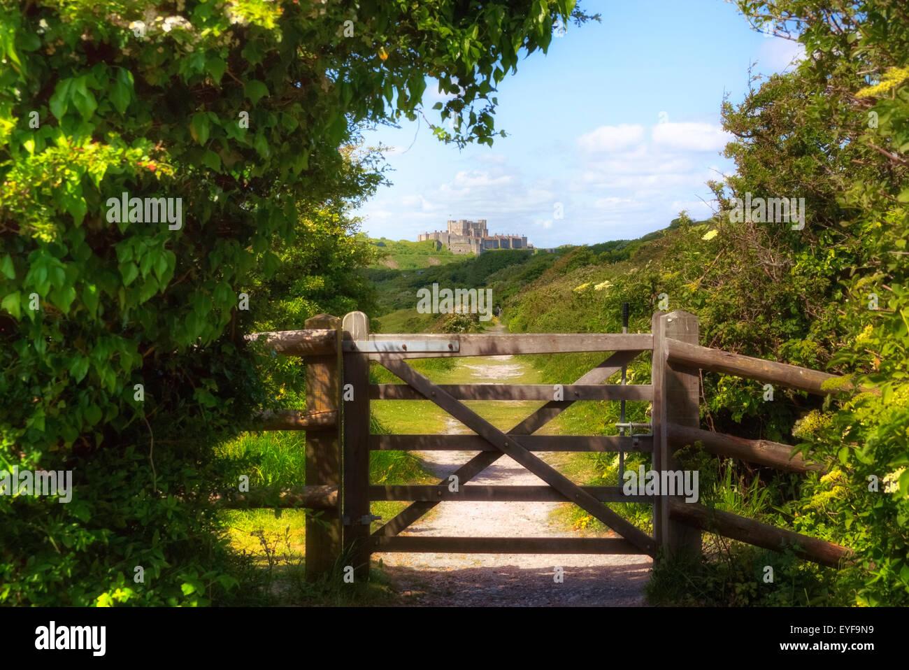 Le château de Douvres, Dover, Kent, Angleterre, Royaume-Uni Photo Stock