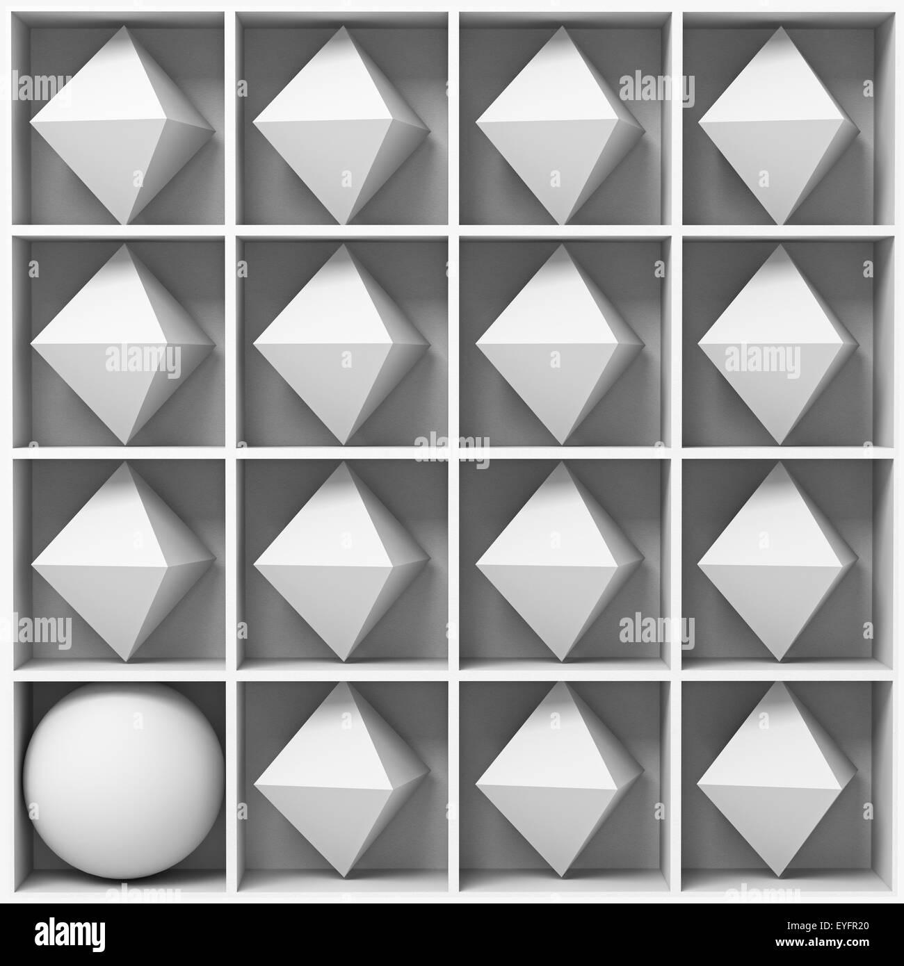 Les figures géométriques blanc Photo Stock