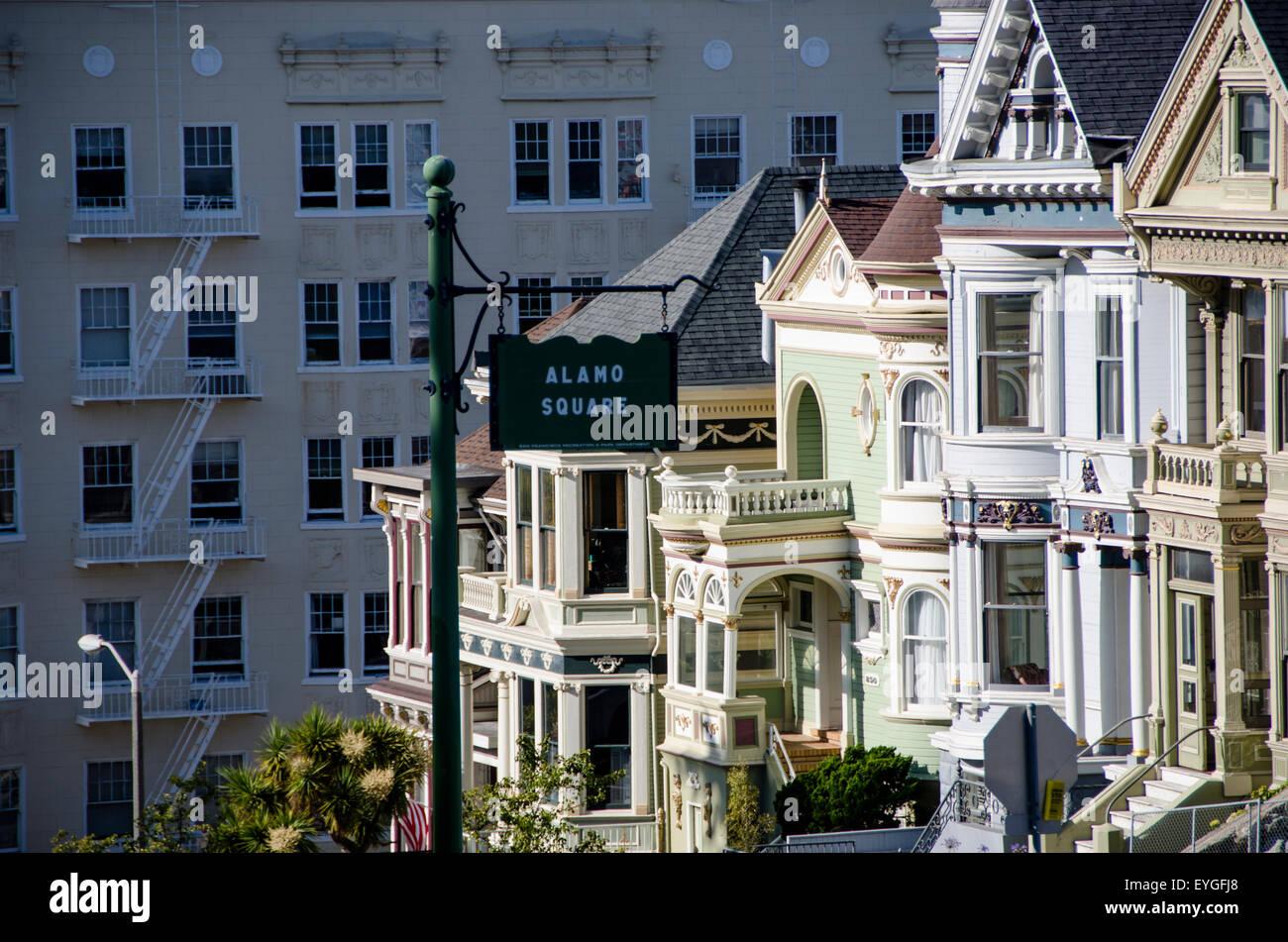 Ruines et monuments de la ville avec une âme très ancienne - San Francisco Photo Stock