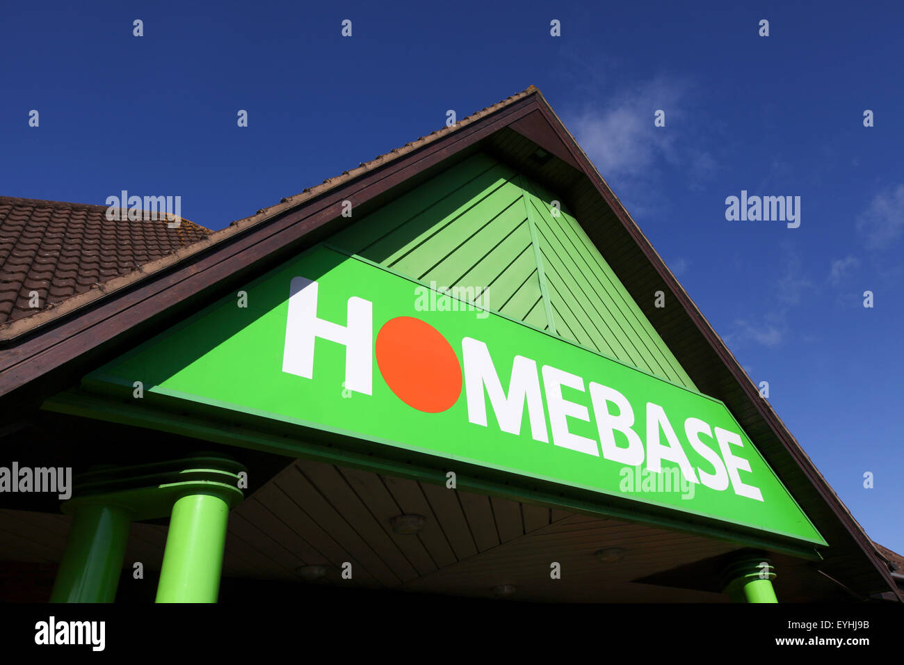 De l'extérieur d'un magasin Homebase à Southampton Photo Stock